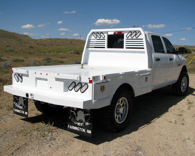 skirted bed truck