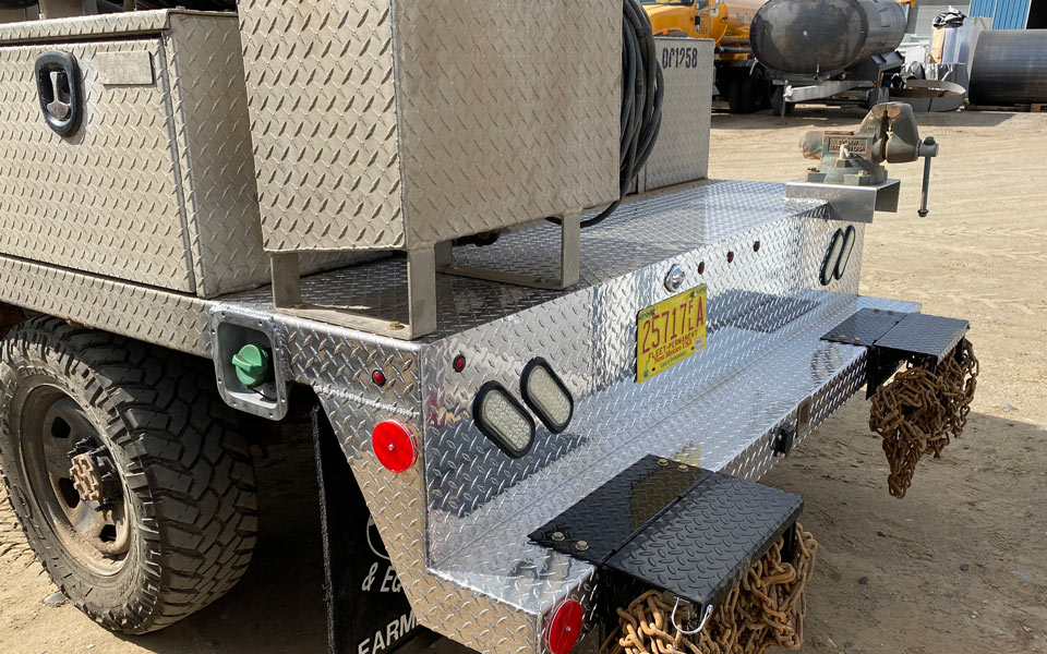 chemical treater truck